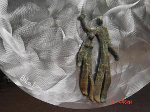 Espace détail, inox et bronze, 70cm