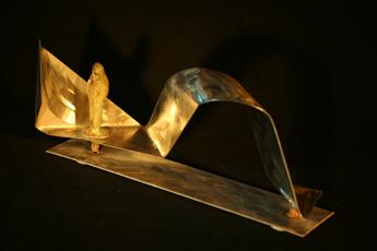 inox et bronze, 22x25x12cm