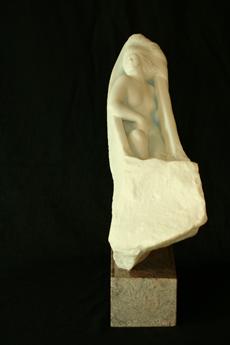 Retour, marbre de Carrara, 51x46x17cm