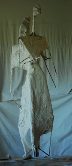Matrice en plâtre sur armature