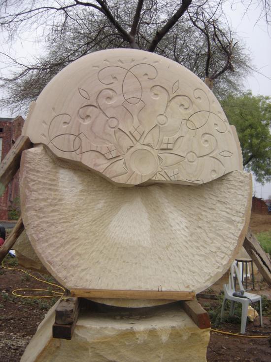 fontaine, grès