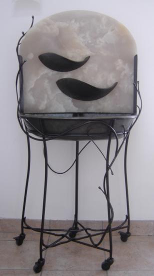 Fontaine, Onyx et fer, collection privée