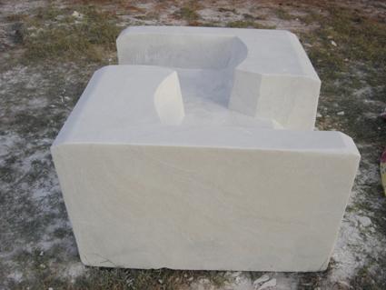 Causeuse, marbre