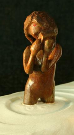 Minakshee et le manguier, bronze, fer et pierre