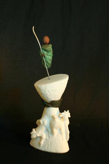 Baba, marbre de Carrare et bronze