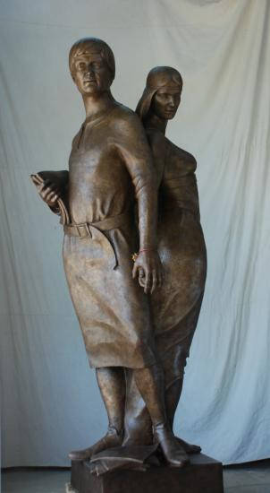 Sculpture achevée après 9 mois de travail