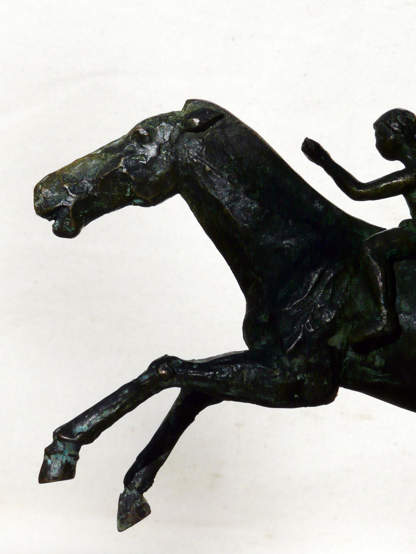 Artemision d'après original, bronze sur marbre griotte, commande privée