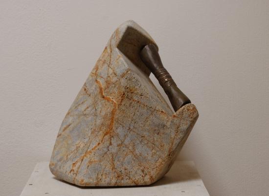 Bag-chags 2, pierre de la Butte et bronze