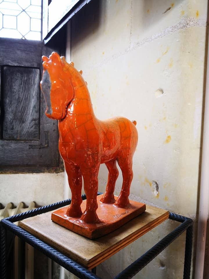 cheval céramique