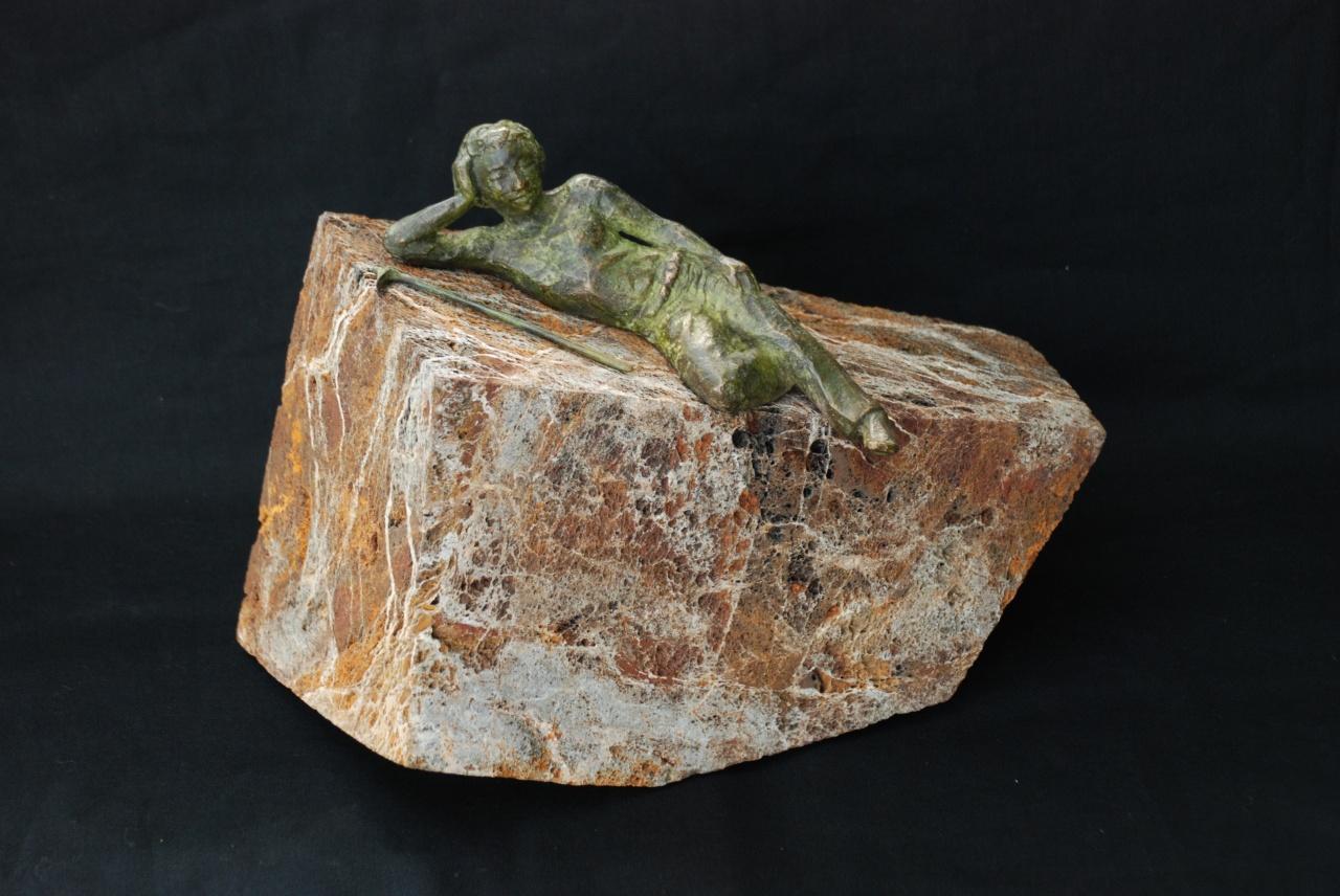 Repos, Pierre de la Butte & bronze, collection privée