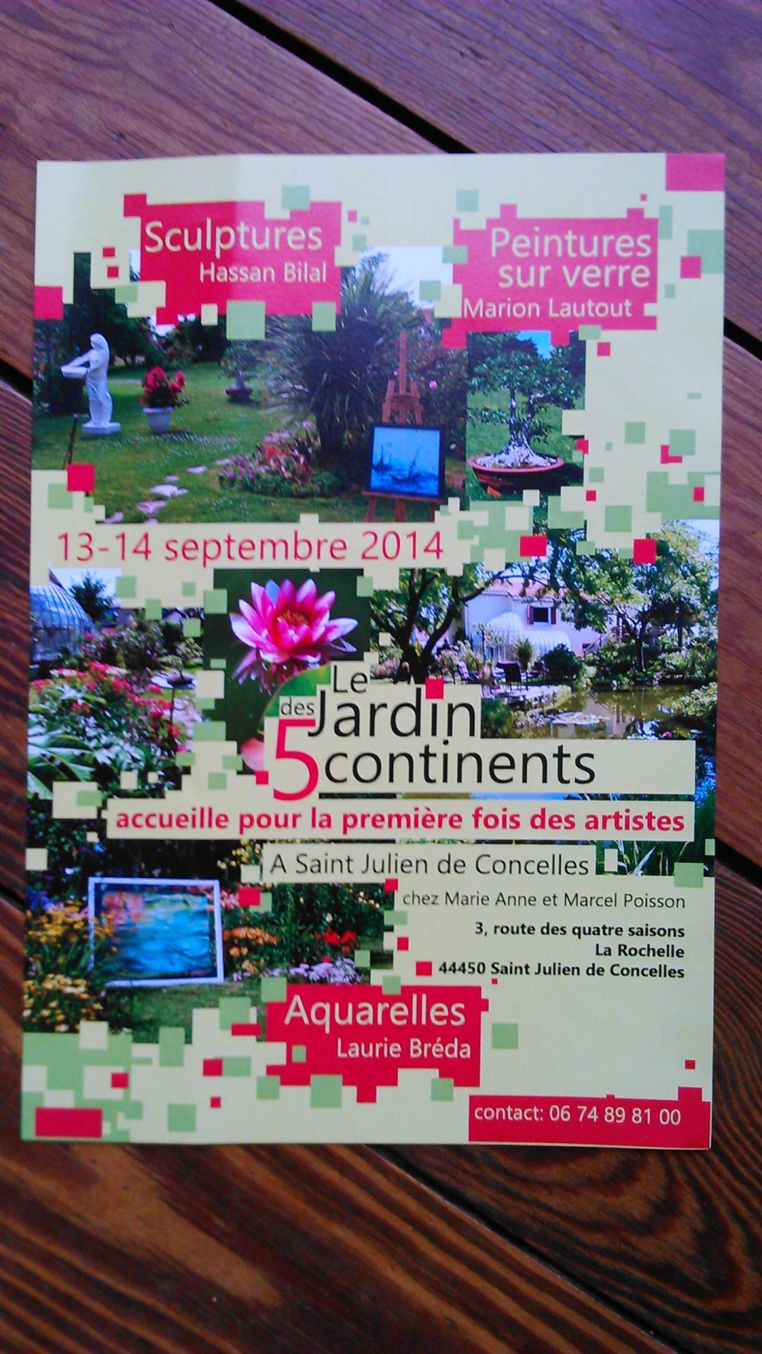 Jardin des 5 continents, St Julien de Concelles, été 2014