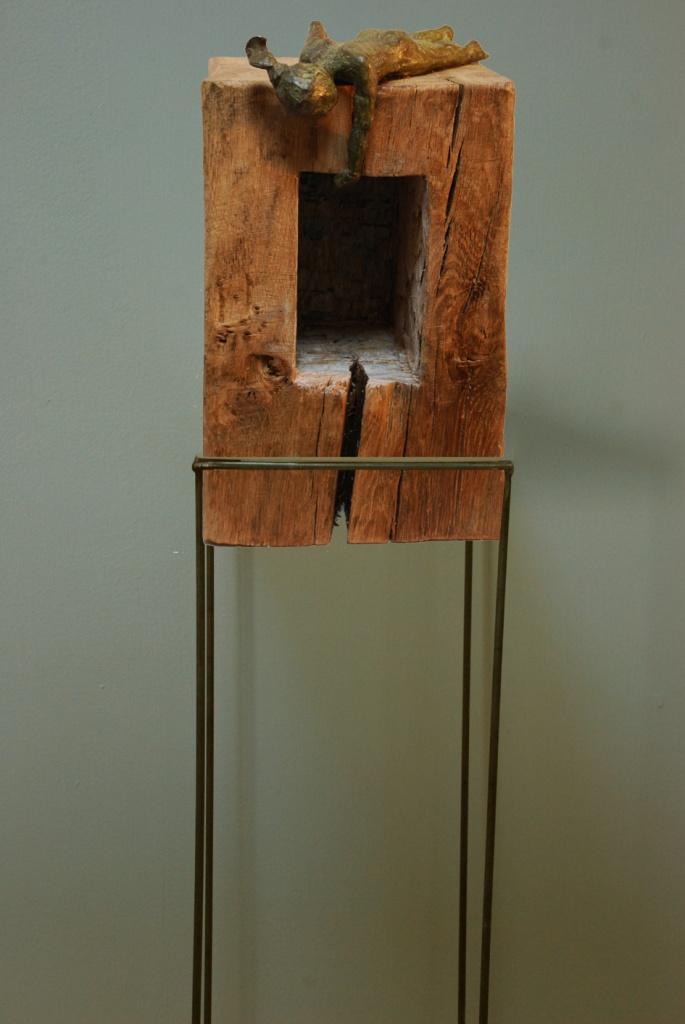 Jumeaux 1, bronze sur bois