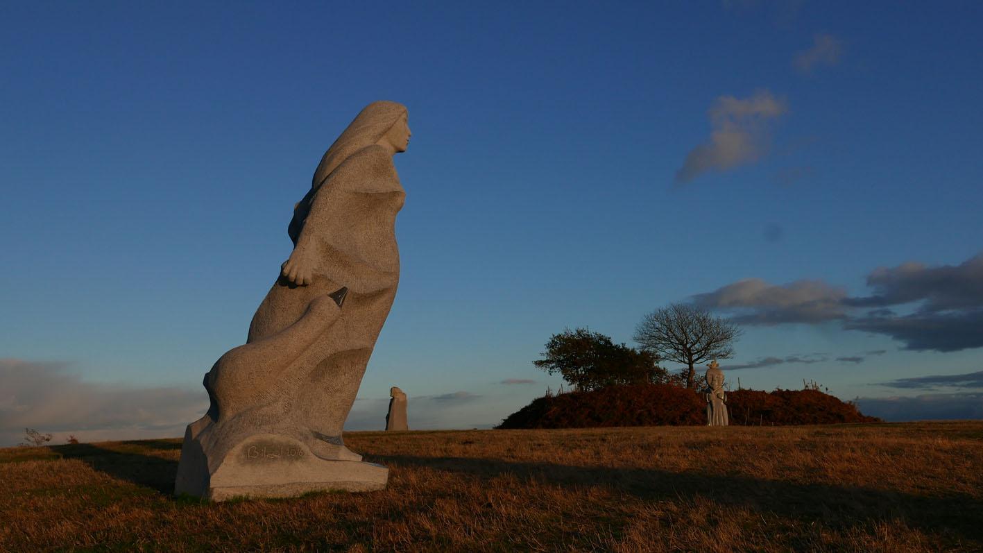 Ste Klervi, La vallée des saints, Bretagne, granit, 3m50, 2016