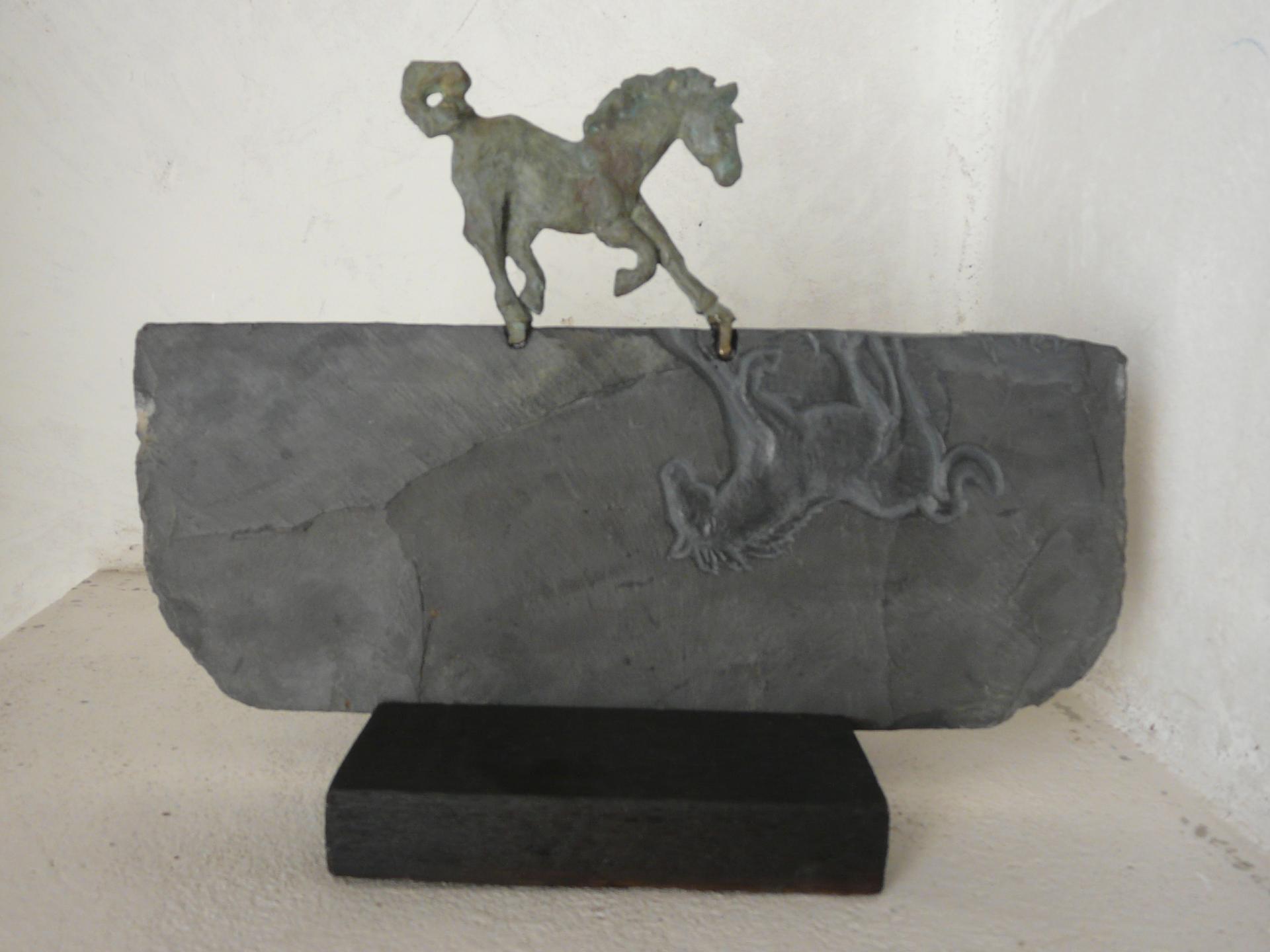 Equus Ferus 3, ardoise & bronze